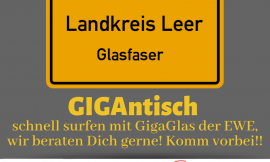 In Kooperation mit EWE: Glasfaser im Landkreis Leer