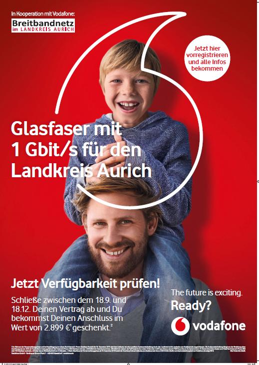 In Kooperation mit Vodafone: Breitbandnetz im Landkreis Aurich
