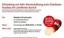 Neun Informationsveranstaltungen zum Glasfaserausbau in Aurich